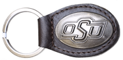 Zep-Pro KL6-BRW-OSU Small (Crazy Horse) Oval Concho Key Chain