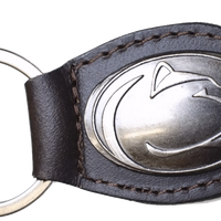 Zep-Pro KL6-BRW-PSU PENN STATE Small (Crazy Horse) Oval Concho Key Chain