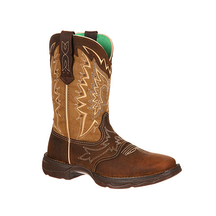 "Women's Durango RD4424 10"" Rebel Let Love Fly Western Boot"