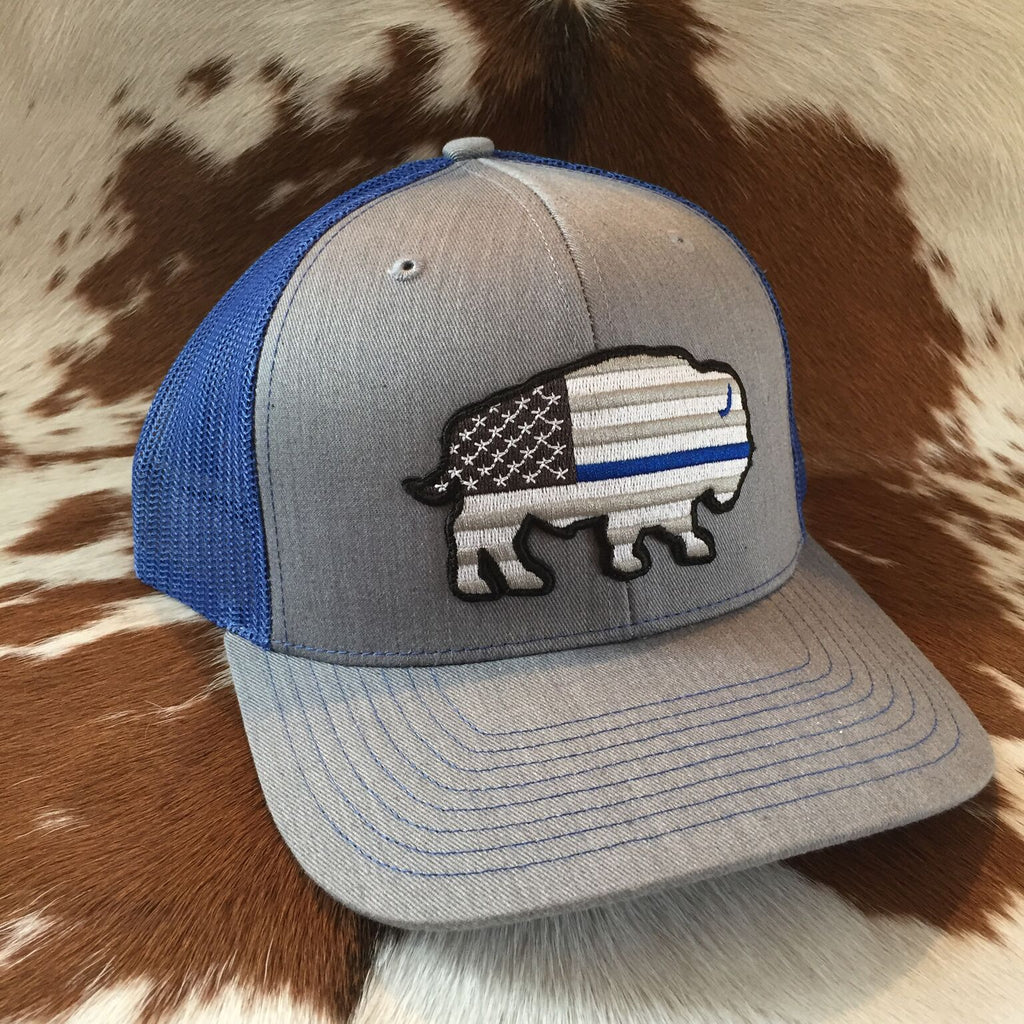 RDHC35 Thin Blue Line Buffalo Red Dirt Hat Company