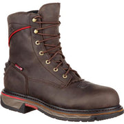 "ROCKY RKW0204 8"" LACE-UP IRON SKULL COMPOSITE TOE WATERPROOF WESTERN BOOT ROUND TOE *Closeout*"