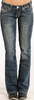 PANHANDLE SLIM ROCK & ROLL W7-4506 WOMEN'S RIDING BOOT CUT JEAN
