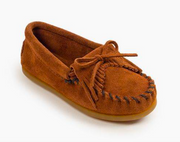 Minnetonka Moccasin Children's 2402 Kilty Brown Hardsole Driving Moc *Closeout*
