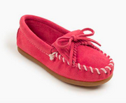 Minnetonka Moccasin Children's 2405 Kilty Hot Pink Hardsole Driving Moc *Closeout*