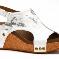 Corkys 30-5316-WHME White Wedge Shoe