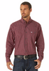 Wrangler® MG2196R Men's Cabernet Classics Long Sleeve Shirt