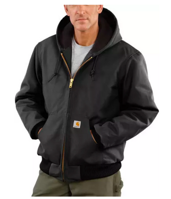 Carhartt J140-BLK Black Duck Quilted Flannel-Lined Active Jacket