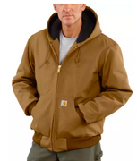 Carhartt J140-BRN Carhartt Brown Duck Quilted Flannel-Lined Active Jacket
