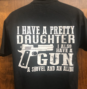 "2nd Amendment 90003 ""Pretty Daughter"" Black Short Sleeve T-Shirt"