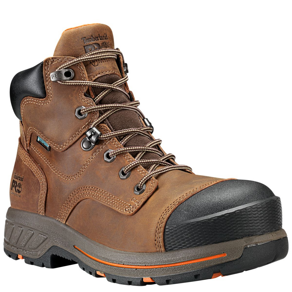 TIMBERLAND PRO® TB0A1HQL214 6 In Helix HD Comp Toe Waterproof Brown