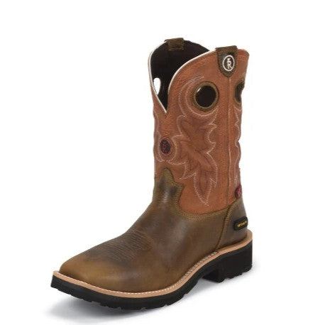 "Tony Lama 3R RR3300 11"" Midland Rust Brown Wide Square Toe"