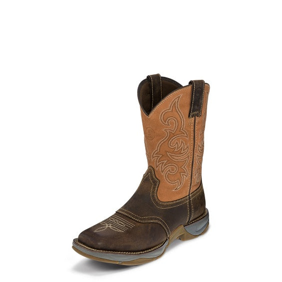 "Tony Lama 3R RR3351 11"" Junction Dusty Brown Wide Square Toe"