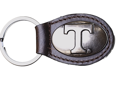 Zep-Pro KL6-BRW-UTN Tennessee Volunteers Small (Crazy Horse) Oval Concho Key Chain