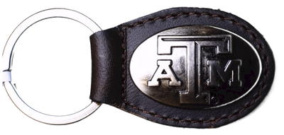 Zep-Pro KL6-BRW-TAM Texas A&M  Small (Crazy Horse) Oval Concho Key Chain