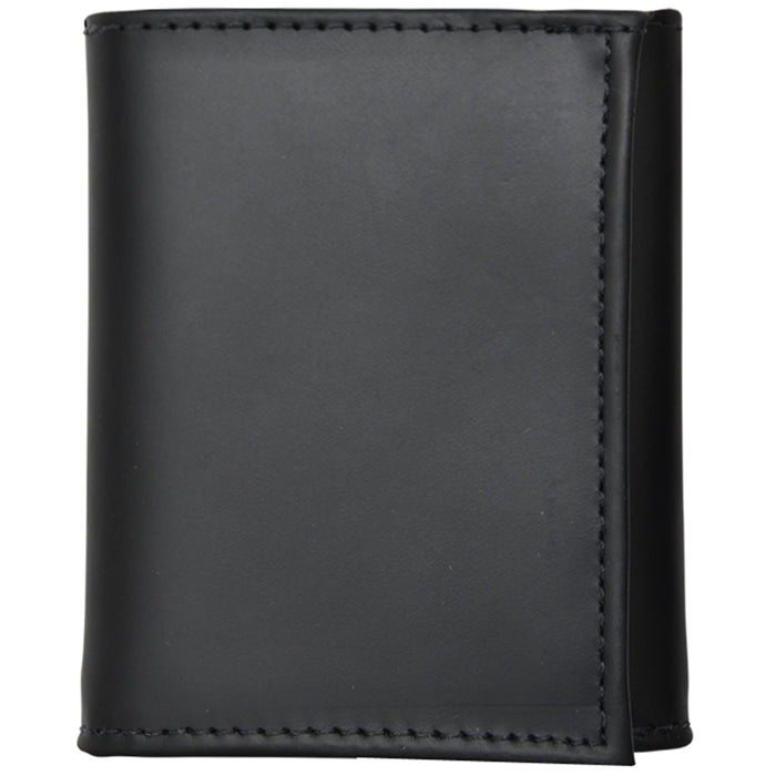 3D W1011 Black Basic Trifold Wallet
