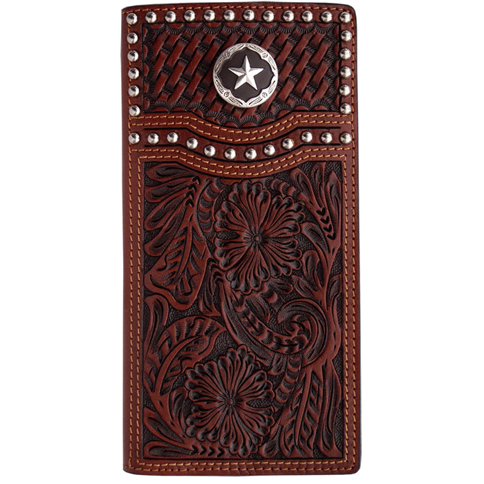 3D W281 Tan Western Rodeo Wallet