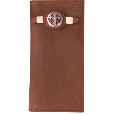 3D W402 Brown Western Rodeo Wallet