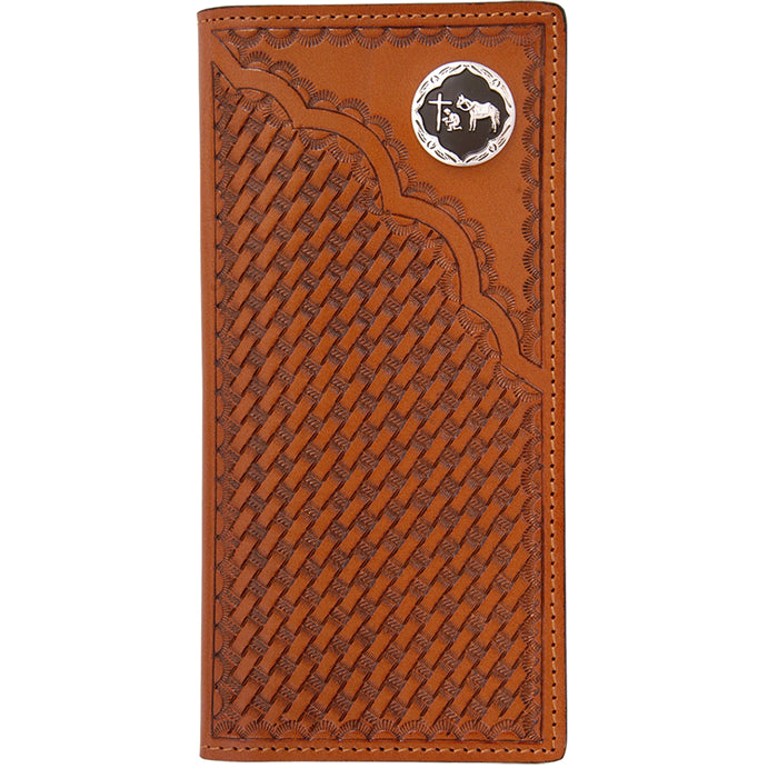 3D W543 Natural Western Rodeo Wallet