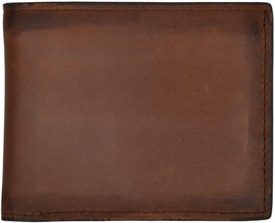 3D W614 Brown Basic Bifold Wallet