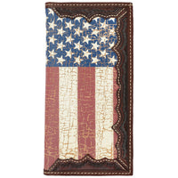 3D W841 Brown Western Rodeo Wallet
