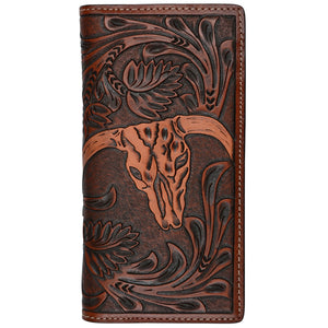 3D W905 Tan Western Rodeo Wallet