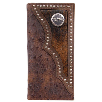 3D W914 Brown Western Rodeo Wallet