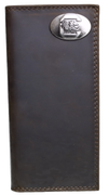 "Zep-Pro IWT4CRZH-USC South Carolina Gamecocks Tall Brown ""Crazy Horse"" Leather Wallet"