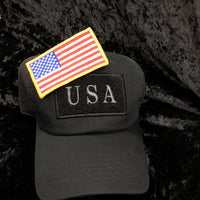 Hat Republic BLK USA FLAG NS