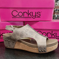 Corkys Volta 30-5313 Brown Distressed Shoe