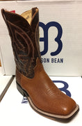 "Anderson Bean Rust Shrunken Bison 11"" Wide Square toe"