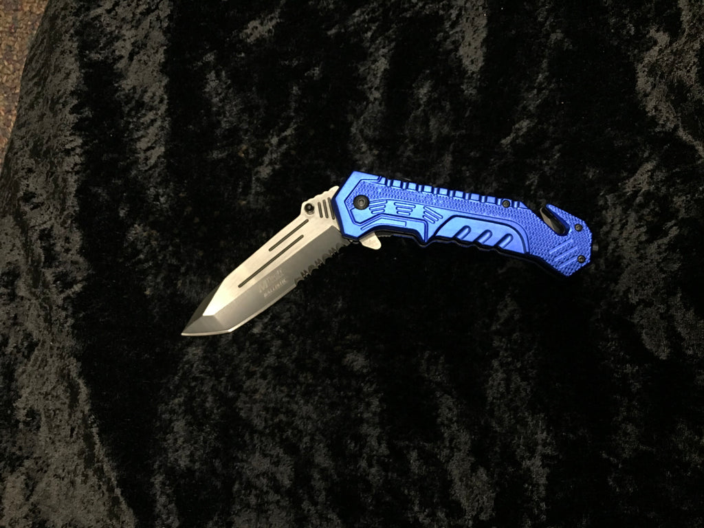 "MTech USA MT-A867BL BLUE SPRING ASSISTED KNIFE 5"" CLOSED"