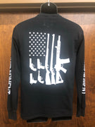 "2nd Amendment 20262LSBLK ""Gun Flag"" Black Long Sleeve T-Shirt"
