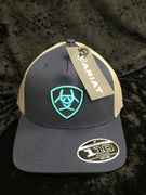Ariat A300012303 Ariat Navy/Grey Cap with Teal Logo Flexfit