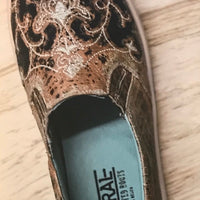 Women's Corral E1563 Bronze/Black Inlay Embrodery Shoe *CLOSEOUT*