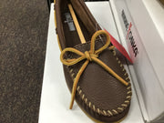 Women's Minnetonka Moccasin 611S Boat Moc Off White Driving Moc *Closeout*