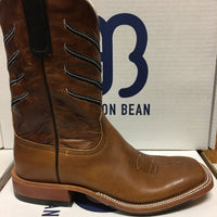 "Women's Anderson Bean Black Hawk Chestnut 10"" Wide Square Toe"