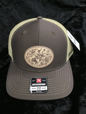 Ariat A300009002 Brown and Tan Bullrider Patch Richardson Cap