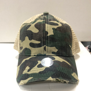 Camo Pony Tail Cap