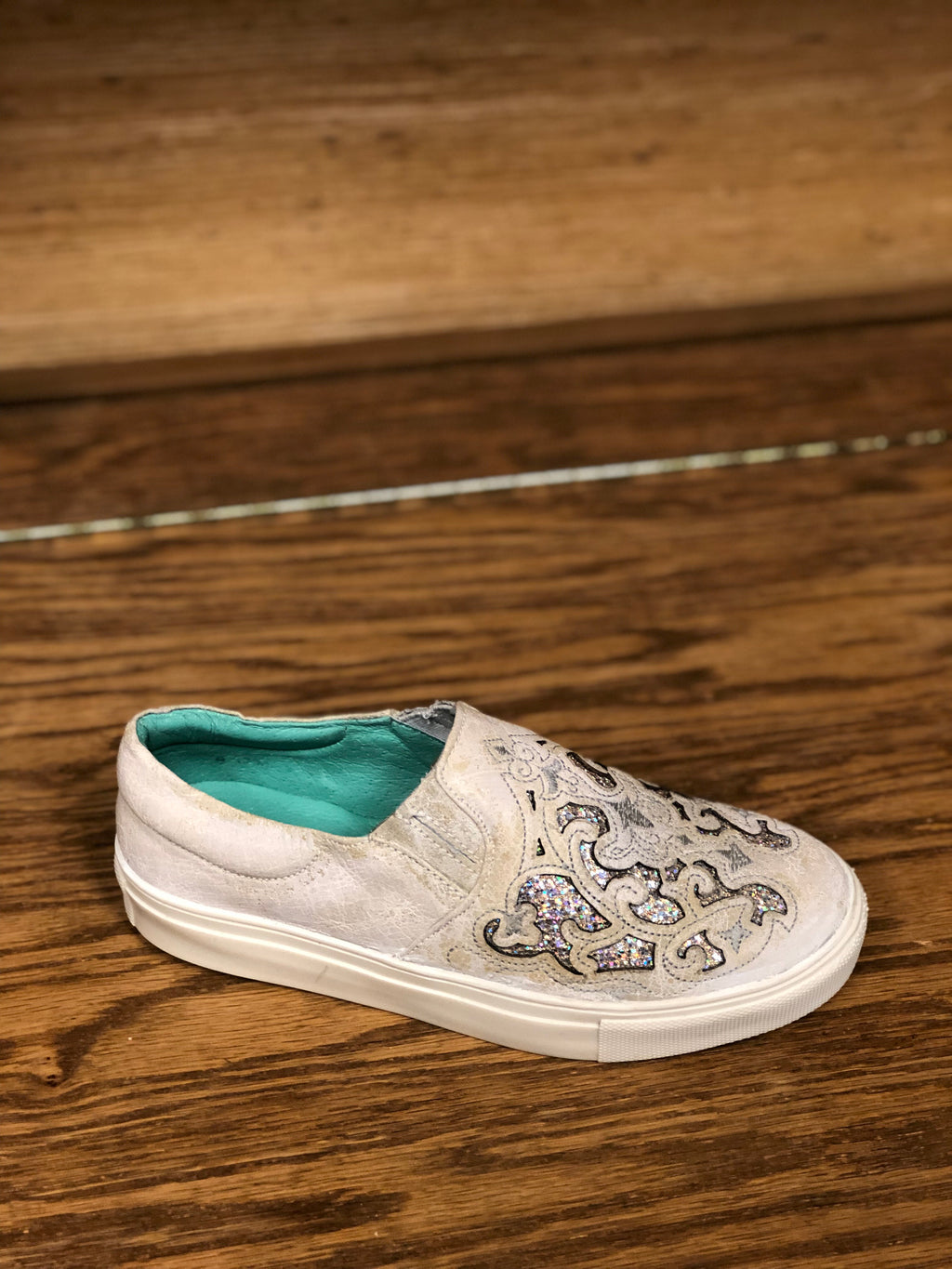 Women's Corral E1562 White Inlay & Embrodery Shoe