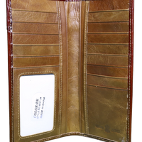 Brown Rooster w/TQ Inlay Wallet 5027-2BR