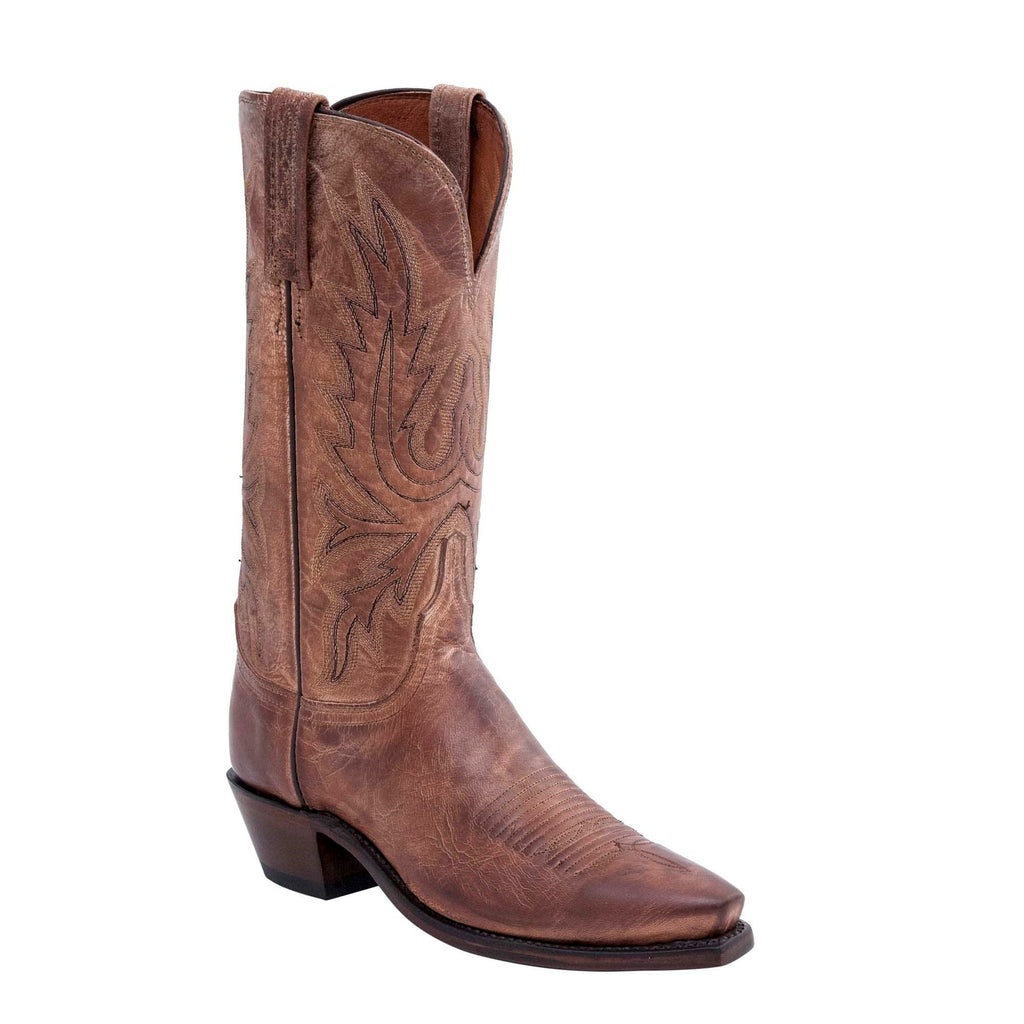 "Women's Lucchese N4540.54 12"" Savannah Tan Burnished Mad Dog Goat Snip Toe"