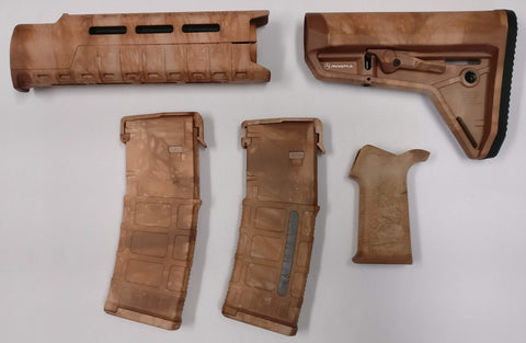 Magpul AR-15 Custom Dyed MOE SL Carbine Length 5 piece Kit Tan Camo #1