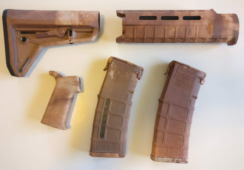 Magpul AR-15 Custom Dyed MOE SL Carbine Length 5 piece Kit Tan Camo #2