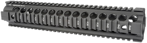 Midwest Industries Gen2 Two Piece Free Float Handguard, Rifle Length - Black MCTAR-22G2