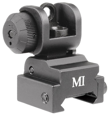 Midwest Industries ERS Flip-up Rear Sight - Black MCTAR-ERS