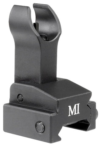 Midwest Industries Flip Up Front Sight, Gas Block Mount Model - Black MCTAR-FFG