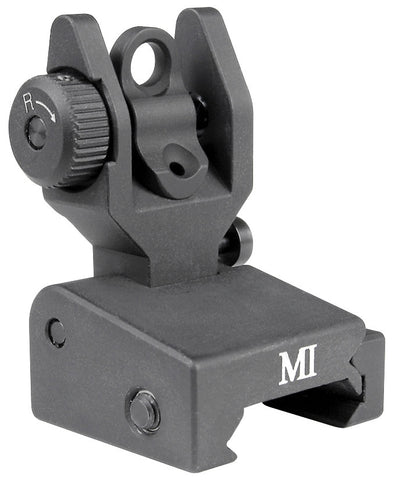 Midwest Industries Same Plain Low Profiile Rear Sight - MCTAR-SPLP - Black