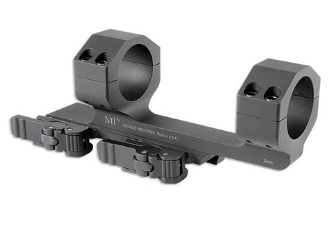 Midwest Industries 30MM QD Scope Mount with 1.4-in Offset-Black MI-QD30SM
