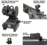 GG&G A2 Back Up Iron Sight Same Plane Aperture Fits Picatinny Black