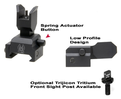 GG&G Sight Fits Picatinny Black Spring Actuated A2 Flip-up Rear GGG-1393